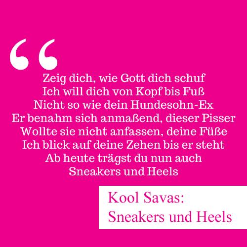 """Der Refrain von """"Sneakers und Heels"""" von Kool Savas spricht Bände über Fußfetisch"""